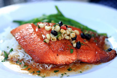salmon, fish, seafood, food, dish, cuisine,