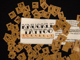 Knuckle Tattoo Scrabble