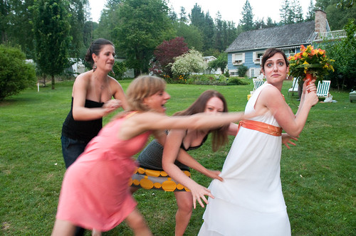 Sharon & Shayne's Wedding: Frickin' bridesmades..
