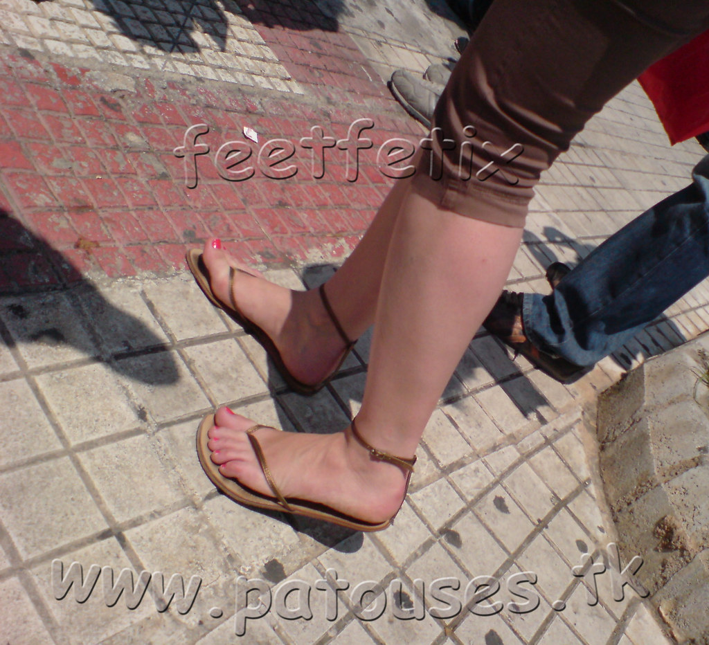 Feet In Sandals Candid Teen 2