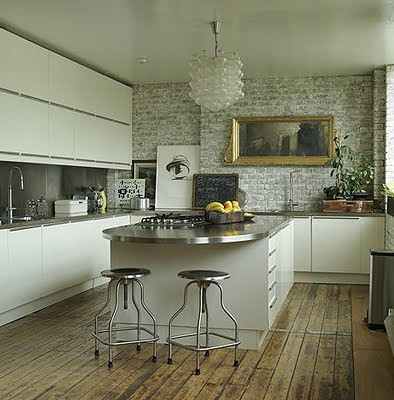 Modern rustic kitchen flickr photo sharing for Rustic modern kitchen cabinets