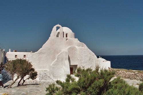 Σύμπλεγμα πέντε εκκλησιών - Παναγιά η Παραπορτιανή, Άγιος Ευστάθιος, οι Άγιοι Ανάργυροι, Άγιος Σώζων και Αγία Αναστασία.