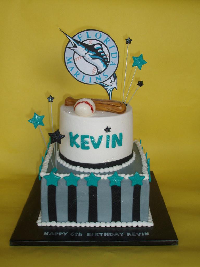 Florida Marlins Baseball Birthday Cake A Photo On Flickriver