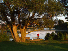 Fishing on the Huron River at Gallup Park