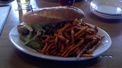 Shrimp Po Boy & Sweet Potato Fries At The Bull…