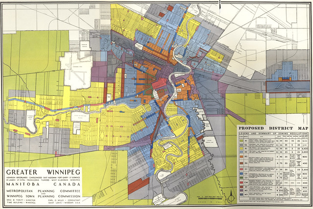 Greater Winnipeg Proposed Zoning Regulations District Map (1947)
