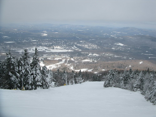 winter vermont skiing view downhill skiresort vista slope stratton
