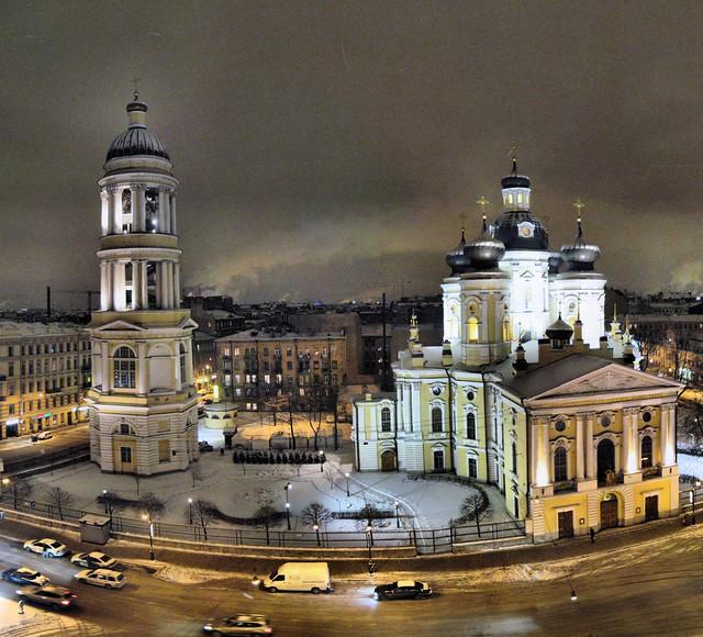 Saint-Pétersbourg - Église Notre-Dame de Vladimir - 15-02-2009 - 23h41