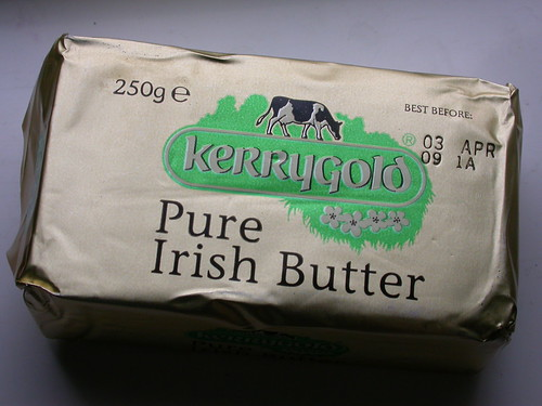 Example of a packing label for butter
