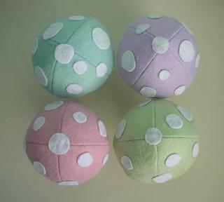Easter mushroom tops!