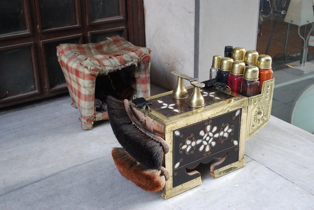An Istanbul shoe shiner's kit