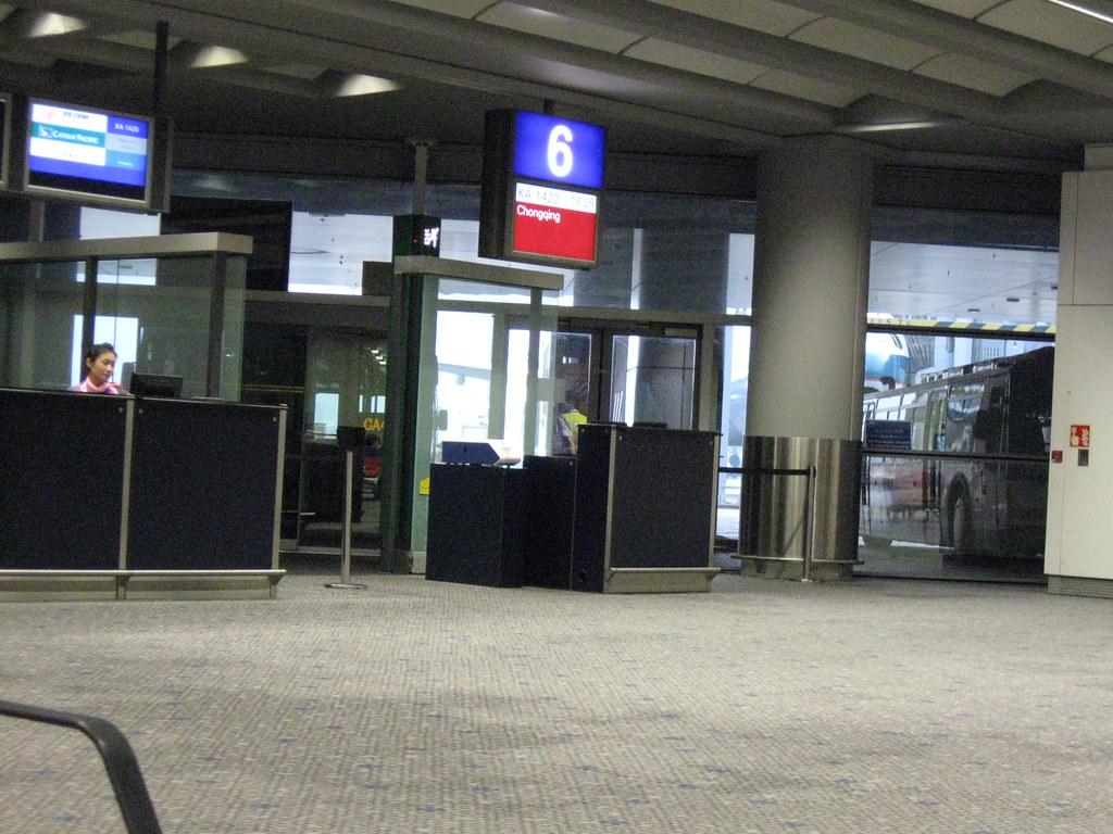 Hongkong airport gate 6