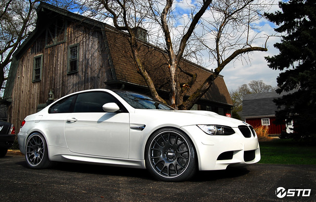 BBS CH Black on Alpine White E92 M3