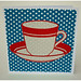 Card - red cup blue polka dots by nickynackynoodesigns