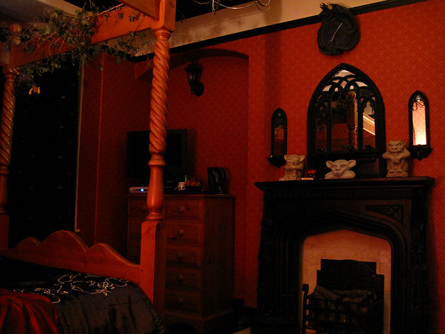 The Red Room at the Bats and Broomsticks Guesthouse in ...