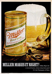 Miller High Life Ad (Popular Science - December 1970)