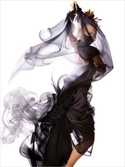 Anime Umbrella Portrait - Smoke Series