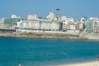 Imagen de Praia do Orzán Playa del Orzán cerca de A Coruña. travel beach spain coruña playa coruna