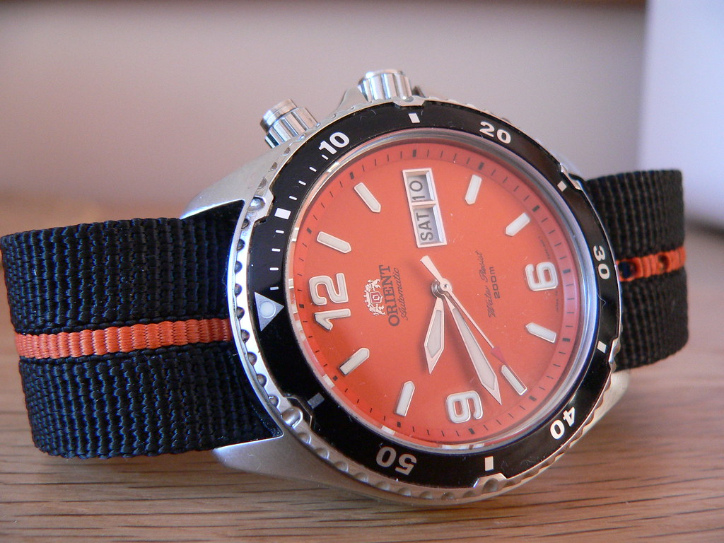 Orient vs seiko orange dive watch - Orange dive watch ...