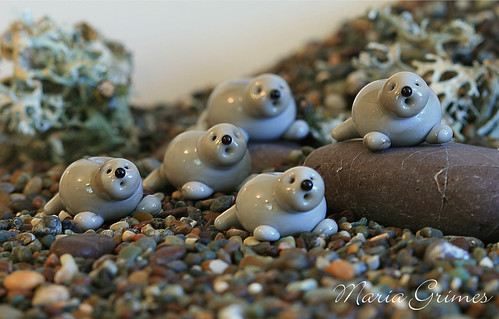 Lampwork Otters Pops