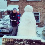 George & I with our latest creation