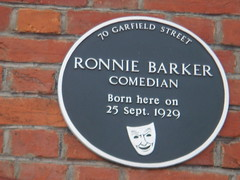 Photo of Ronnie Barker black plaque