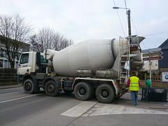 asphalt, vehicle, transport, concrete mixer,