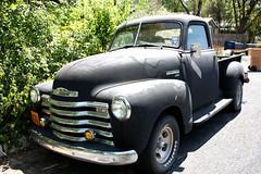 ford f-series(0.0), compact car(0.0), automobile(1.0), automotive exterior(1.0), pickup truck(1.0), vehicle(1.0), truck(1.0), chevrolet advance design(1.0), antique car(1.0), land vehicle(1.0), motor vehicle(1.0),