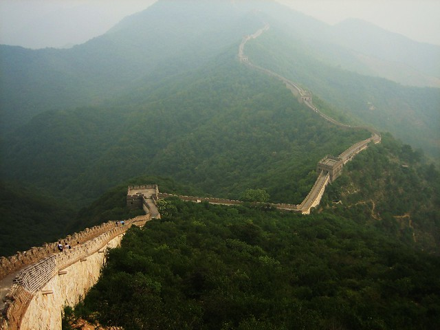 Mutianyu Great Wall, Huairou County near Beijing, China, Aug 2009