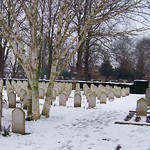 Snow at Newark-On-Trent Cemetery 5-02-