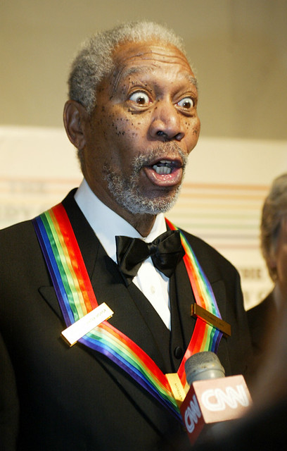 Morgan Freeman accepting an Award and a Impromptu Enema