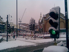 Snow traffic light