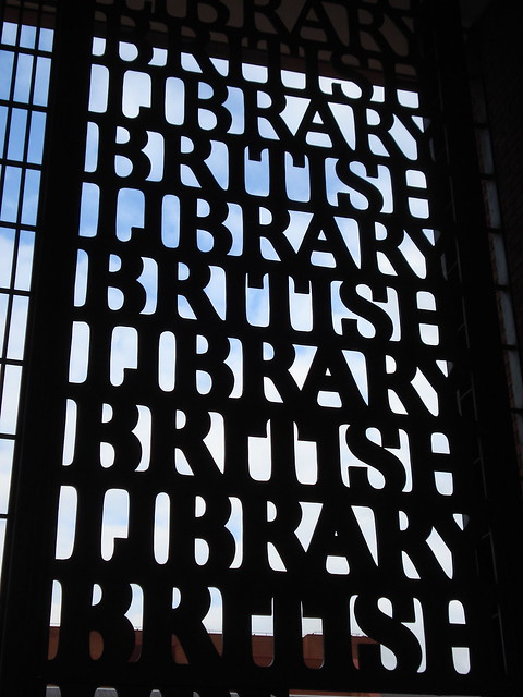 "The British Library, in London.  Not a totally evocative photo for the subject matter, but the first result in a search for ""British"" in my Flickr stream."