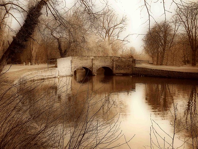 Nuns Bridge in Orton sepia