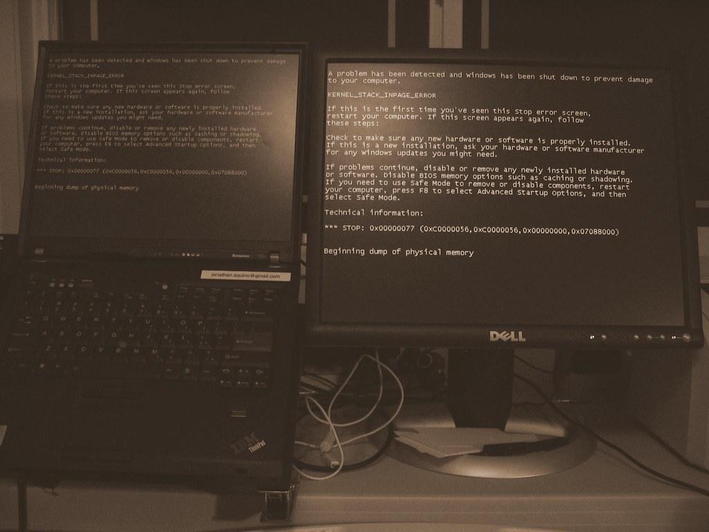 Blue Screen of Death, IBM T60, Windows XP | Jonathan Aquino | Flickr