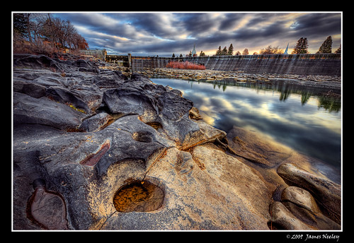 Low Water at Idaho Falls - HDR