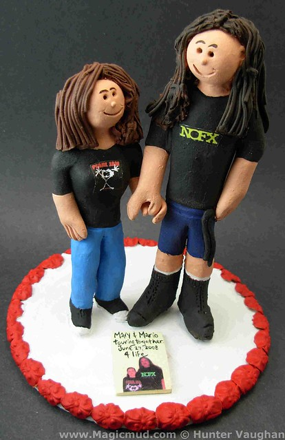 Rock Fans Wedding Cake Topper visit wwwmagicmudcom