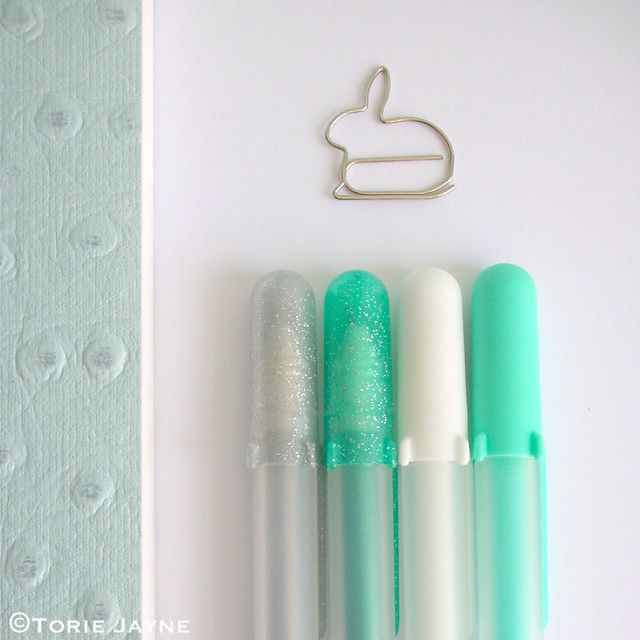 Pretty pens and paperclip
