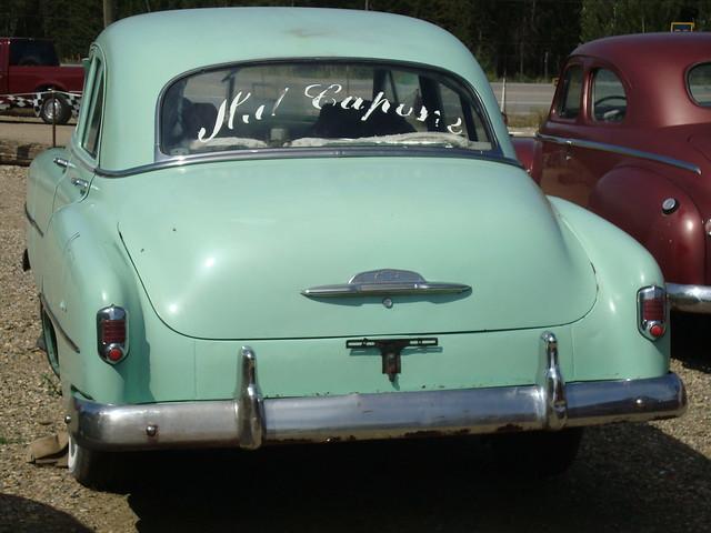 1952 chevrolet styleline 4 door sedan white post auto for 1952 chevy 4 door