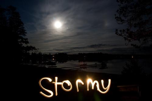 Stormy Lake long exposure
