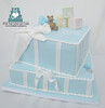 baby blocks on baby shower cake