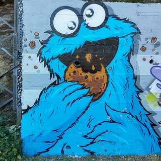Cookie Monster (Krümelmonster) / Artist: DISOH #streetart