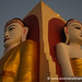 Side by Side Buddha - Bago, Burma