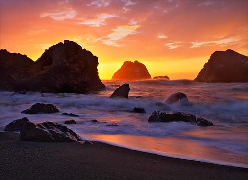 california sunset beach eyecandy velvia50 sonomacoast