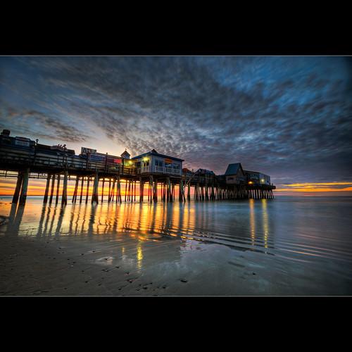 ocean old sea seascape beach water clouds sunrise landscape dawn pier nikon long exposure maine orchard moe oob d300 sigma1020mm moe76