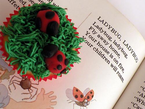 Martha Stewart's Ladybug Cupcakes