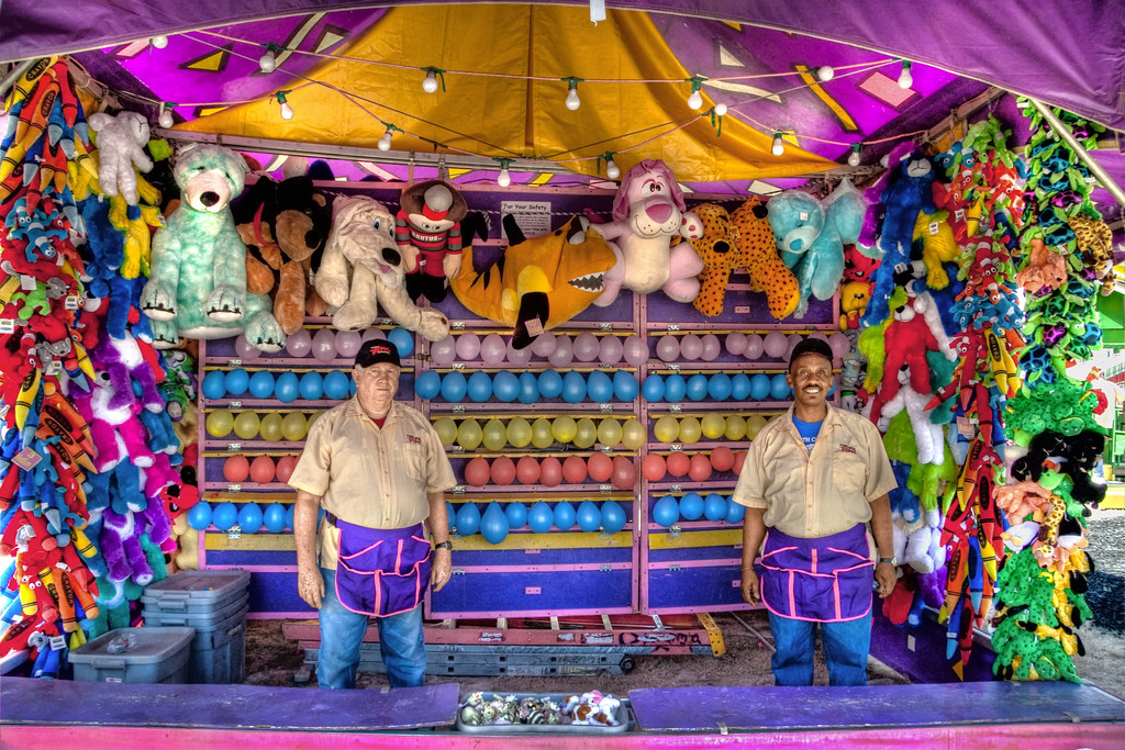Fair Midway Carnival Game Classic Balloon And Dart Game