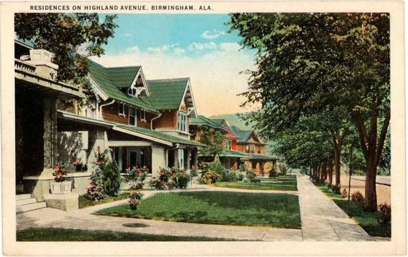 Highland Avenue, c.1916, Birmingham, Alabama