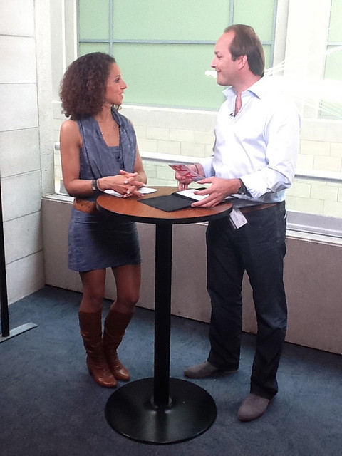 Great interview for #Lab @VoxTV during WebcomMT by Marie-Eve-Lyne Michel
