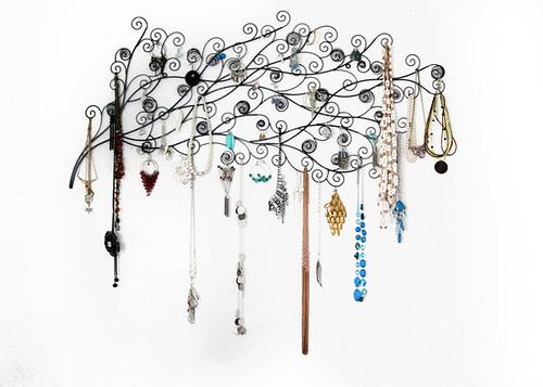Wall-Art Jewelry Hanger